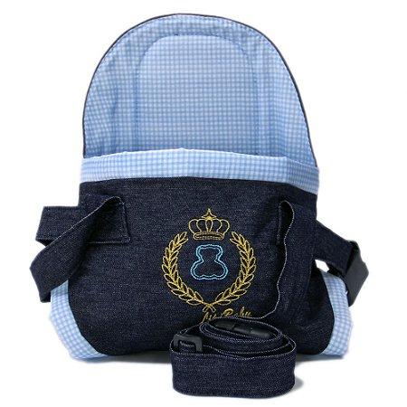 Canguru Cadeirinha Carregador Bebê Baby Bag 15kg Azul Menino