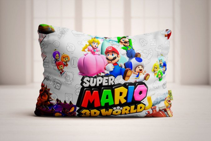 Travesseiro Super Mario Bros 3D