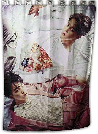Cortina BTS Jimin  e Suga K-POP 1,5x2,0m