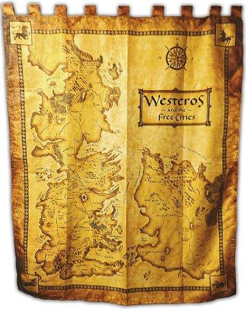 Bandeira Game of thrones - Mapa Westeros