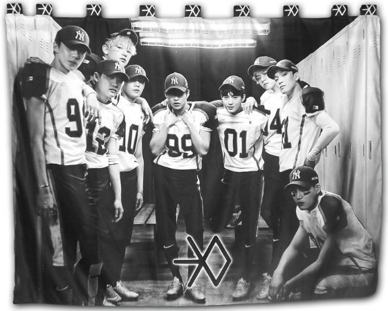 Cortina EXO - Love me Right K-POP 2,0x1,5m