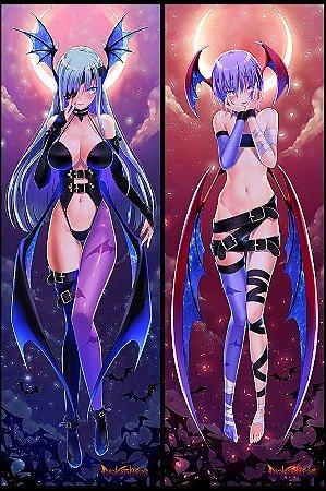 Capa de Dakimakura Oriental Darkstalkers - Lilith e Morrigan