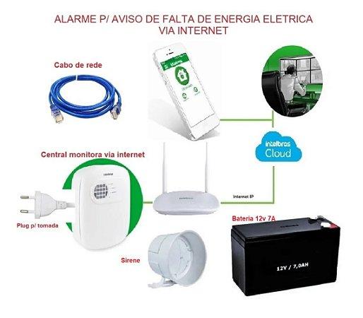 Alarme aviso falta energia eletrica via internet