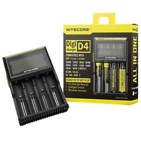 Carregador Baterias NITECORE DigiCharger D4 para 4 Baterias