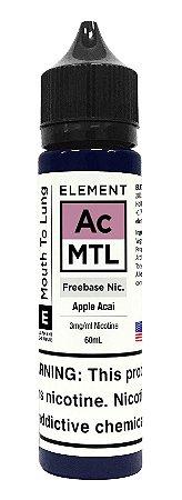 E-Liquido ELEMENT MTL Apple Acai 60ML