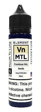 E-Liquido ELEMENT MTL Vanilla 60ML