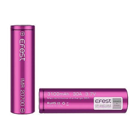Bateria EFEST 20700 Li-Ion IMR 3.7V 3100mAh 30A (Unidade)
