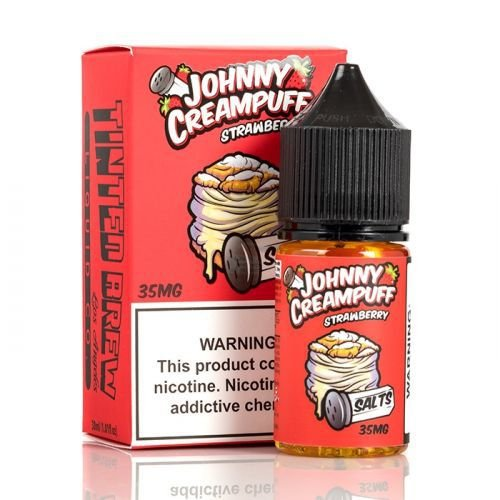 E-Liquido JOHNNY CREAMPUFF SALTS Strawberry 30ML