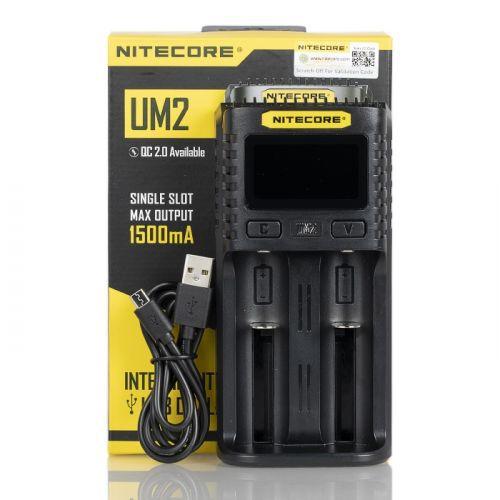 Carregador Baterias NITECORE UM2 USB para 2 Baterias
