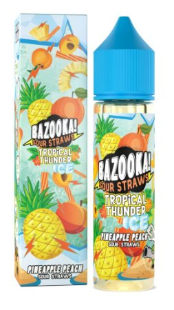 E-Liquido BAZOOKA! SOUR STRAWS Pineapple Peach Ice 60ML