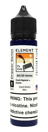E-Liquido ELEMENT EMULSIONS Fresh Squeeze + Crema 60ML