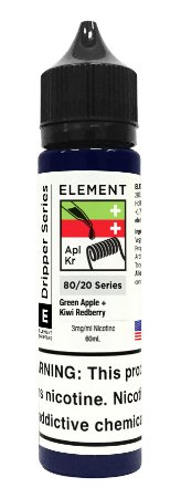 E-Liquido ELEMENT EMULSIONS Green Apple + Kiwi Redberry 60ML