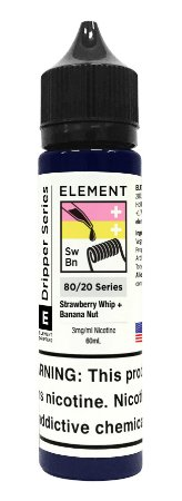 E-Liquido ELEMENT EMULSIONS Strawberry Whip + Banana Nut 60ML