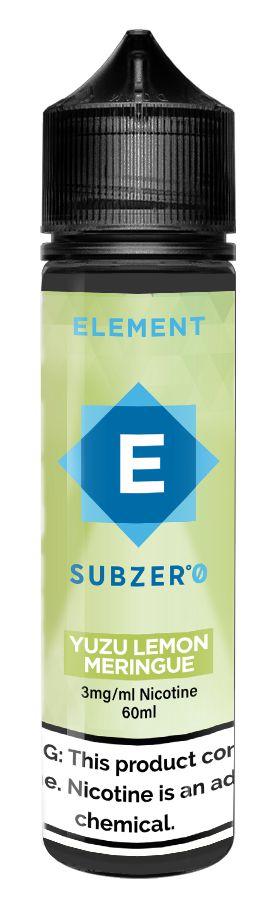 E-Liquido ELEMENT SubZero Yuzu Lemon Meringue 60ML