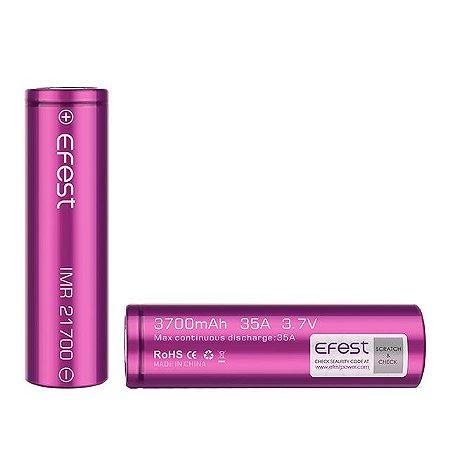 Bateria EFEST 21700 IMR 3700mAh 35A (Unidade)