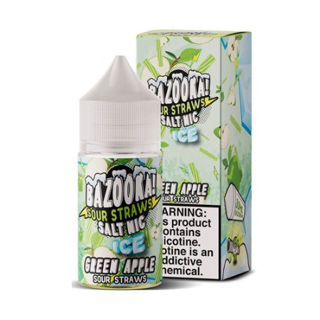 NicSalt BAZOOKA! SOUR STRAWS Green Apple Ice 30ML