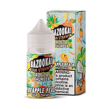 NicSalt BAZOOKA! SOUR STRAWS Pineapple Peach Ice 30ML