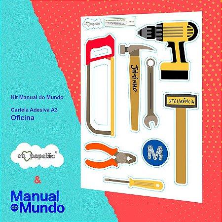 CARTELA ADESIVA A3 MANUAL DO MUNDO - CASA - OFICINA