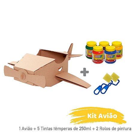 Kit Avião para Colorir