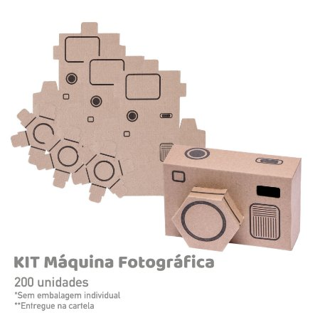 Kit Máquina Fotográfica - 200 unidades
