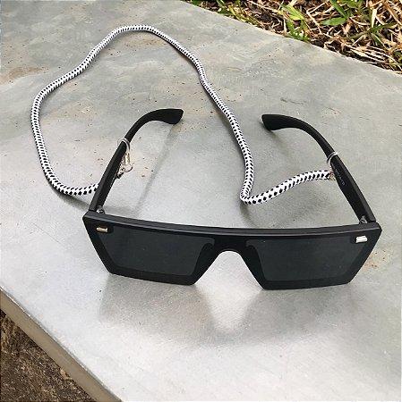 Cordinha náutica branca com preto para óculos