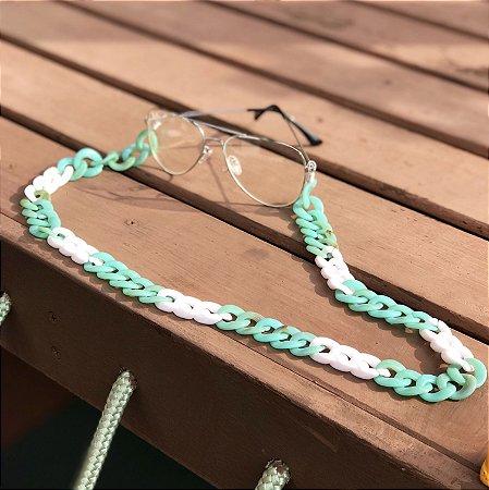 Cordinha para óculos rosa com verde