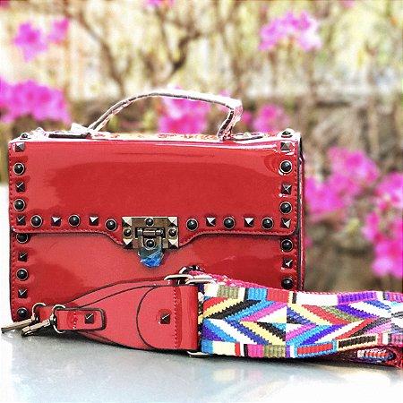 Bag vermelha envernizada