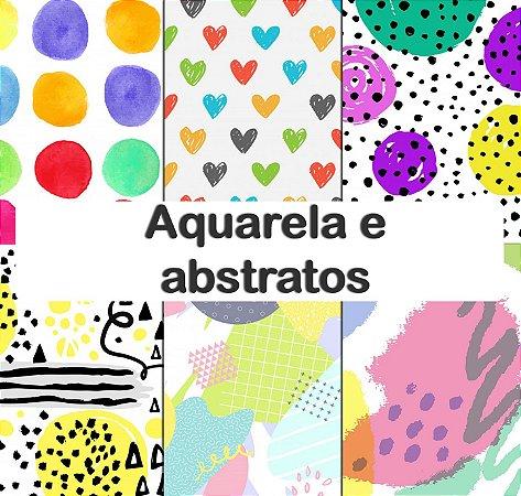 Tecido impermeável PUL Estampado - Aquarela e abstratos