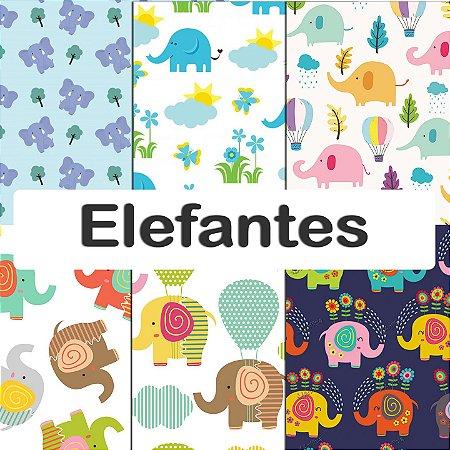 Tecido Impermeável PUL Estampado - Elefantes