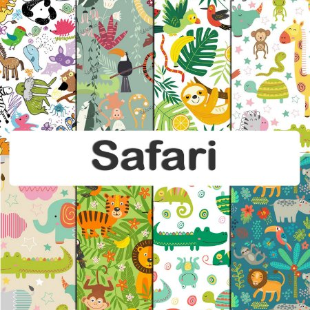 Tecido impermeável PUL Estampado - Safari