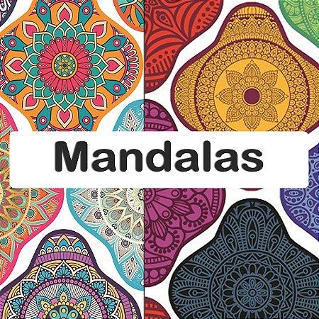 Tecido Impermeável - PUL - 8 estampas - Mandalas