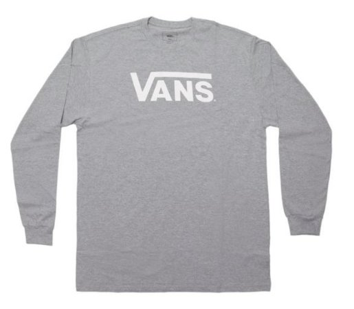 Camiseta Vans Classic - Cinza Manga Longa
