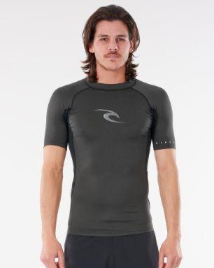 Camiseta De Lycra Rip Curl Waves S/Sl Uv - Black Marle