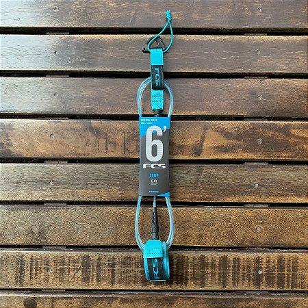 Leash FCS 6' Competição - Azul e Azul Claro