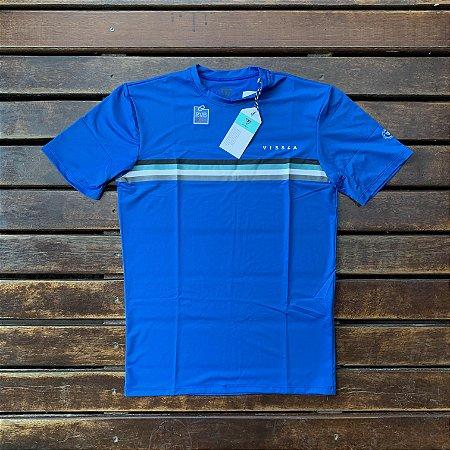 Camiseta Lycra Vissla - Manga Curta - Azul