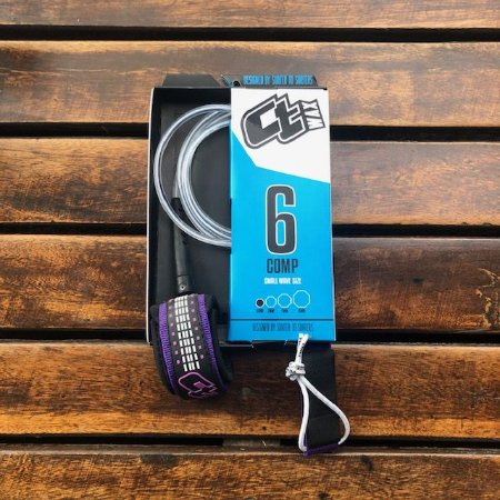LEASH CT 6' COMP ULTRACORD - TRANSPARENTE/ROXO