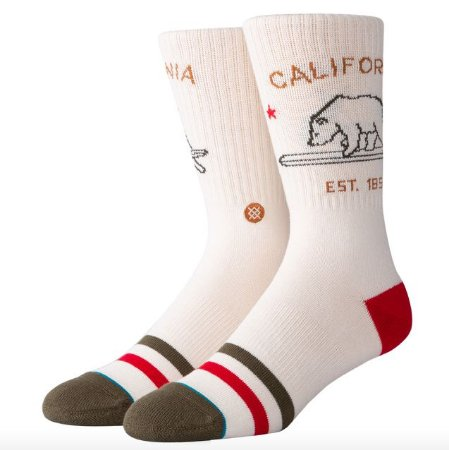 Meia Stance California Republic Cream