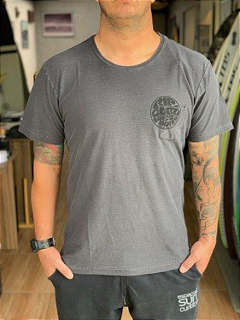 Camiseta Especial Rip Curl Round Logo Co Black