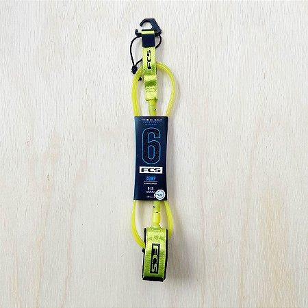Leash FCS 6' Comp Essential - Amarelo Fluor