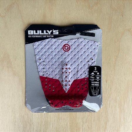 Deck Bullys Nakagima Pro Model - Branco e Vermelho