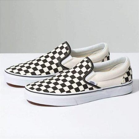 Tênis Vans Slip-On Checkerboard White