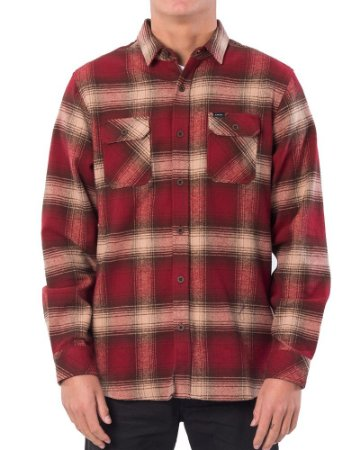Camisa Rip Curl Count L/S Shirt - Vermelha