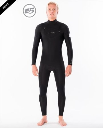 Long John Rip Curl Dawn Patrol 3.2mm Chest Zip - Black
