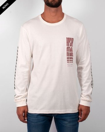 Camiseta Rip Curl Mind Waves LS Tee Bone