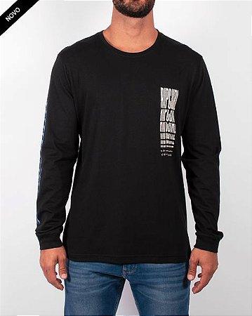 Camiseta Rip Curl Mind Waves LS Tee Black