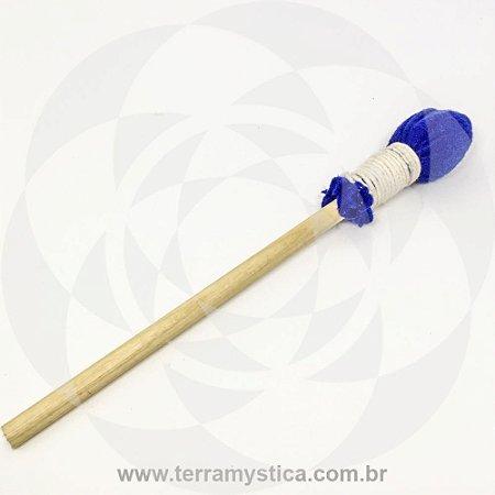 BAQUETA - Tambor Xamânico - Feltro Azul