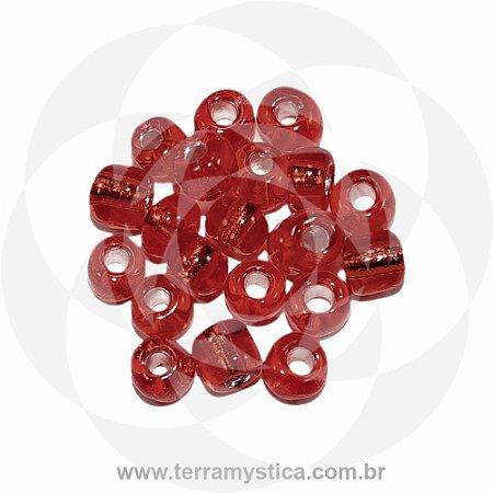 Miçanga Vermelho-Transparente - Pct 40g/400 contas