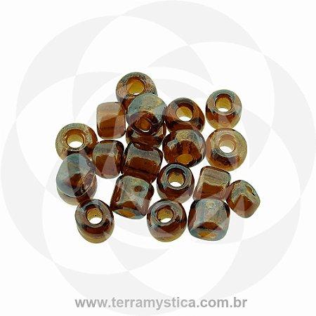 Miçanga Marrom Transparente - Pct 40g/400 contas