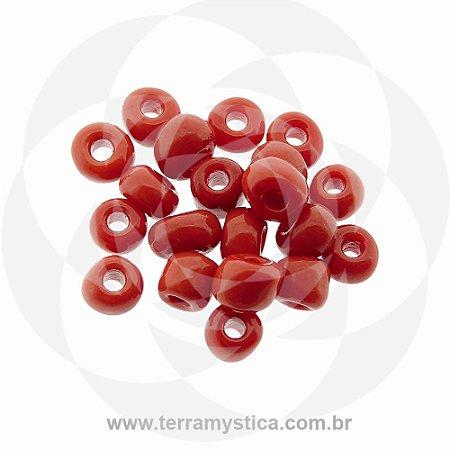 Miçanga Vermelho-Opaco - Pct 40g/400 contas