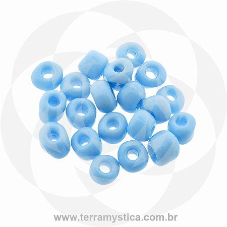 Miçanga Azul-Claro Opaco - Pct 40g/400 contas